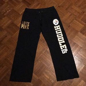 PINK Victoria's Secret Pants - VS PINK Pittsburg Steelers sweatpants
